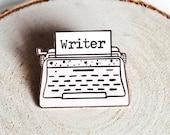 The Writer Pin, Enamel Pin, Book Pin, Book Enamel Pin, Lapel Bin, Book Lover Gift, Books, Author, Writing, Nanowrimo
