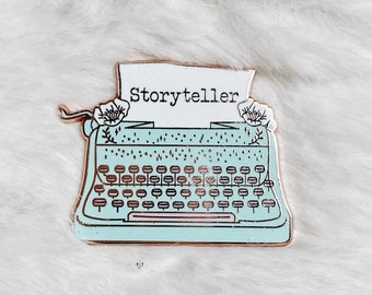 Storyteller, Pastel Enamel Pin, Celestial, Witchy, Wizard, Bookish, Moons, Wolfs, Jewellery, Jewelry, pin, Gift