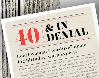 Funny Birthday Card For 40 Year Old Woman 40th