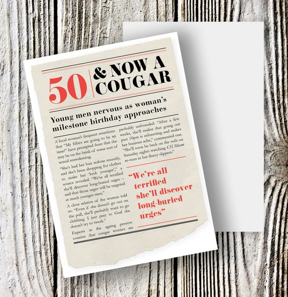 Funny Birthday Card For 50 Year Old Woman 50th