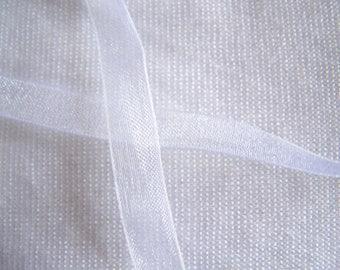 Organza Ribbon, white (O-001)