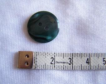 Button making, dark green Pearlescent appearance, diameter 14 mm (Bo 01ver)