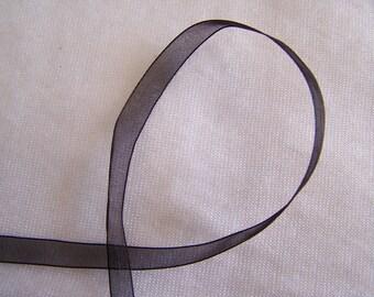 Organza Ribbon, black (O-039)