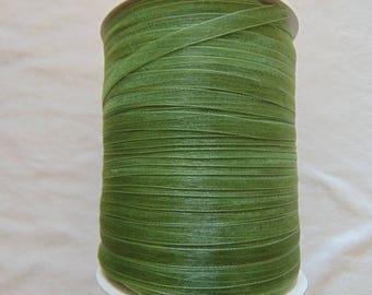 Organza Ribbon, olive green crushed, width 06 mm (O-055)