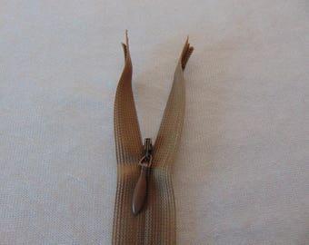 Invisible zipper, bark, length 30 cm (Y-008)