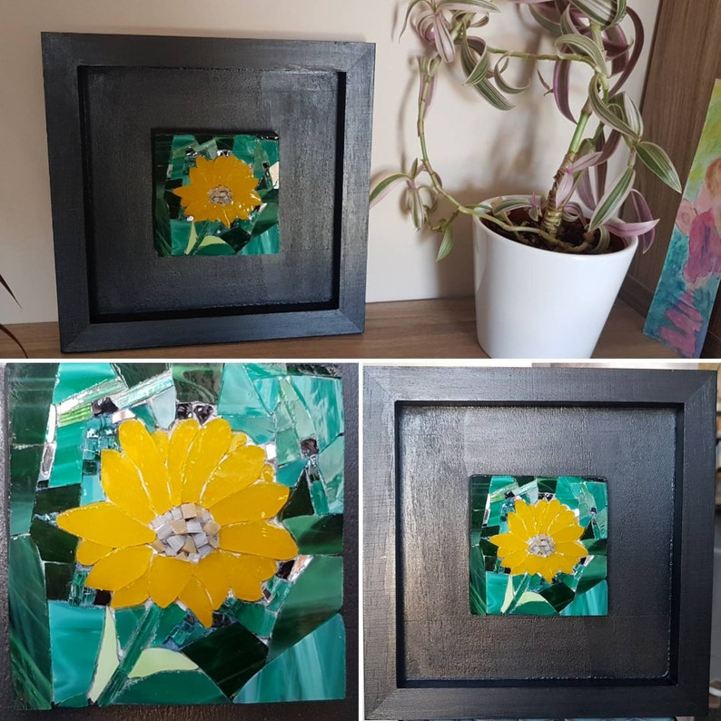 Glass mosaic mural Flower of The Sun image 0
