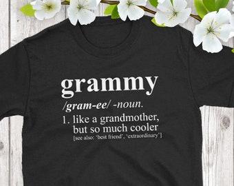 Grammy Shirt - Dictionary Definition - Pregnancy Reveal, Birth Announcement, Christmas Gift, Grammy T-Shirt, Grammy Gift