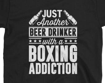 Boxing Shirt Boxer Gift Beer Funny T-Shirt