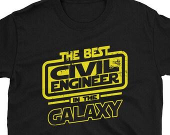 Civil Engineer Shirt - The Best Civil Engineer In The Galaxy - Civil Engineer Gift T-Shirt