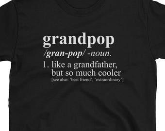Révéler Grandpop chemise - définition du dictionnaire - grossesse, naissance faire-part, cadeau de Noël, Grandpop T-Shirt, Grandpop cadeau
