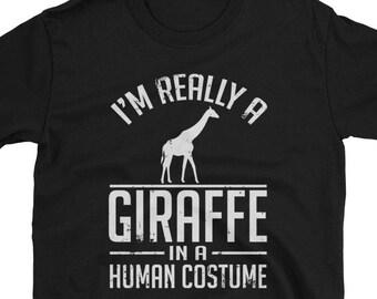f99c4b0fc Giraffe Shirt - Human Costume - Giraffe Gift T-Shirt Spirit Animal Tee