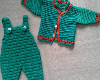 """All overalls + jacket """"Green Lily"""" only 1 piece available"""