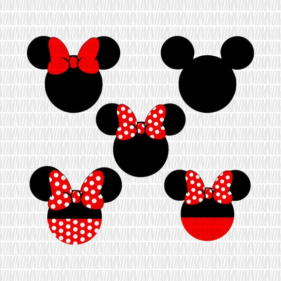 Mickey mouse Svg Disney Svg Minnie Mouse Svg Bow SVG Monogram | Etsy