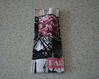 Pocket for toothbrush and toothpaste