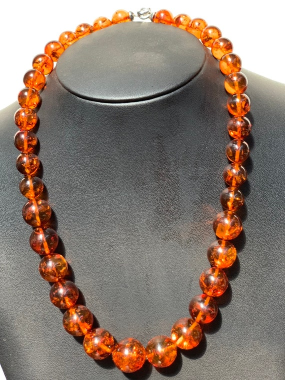 Cherry Amber beaded necklace N72