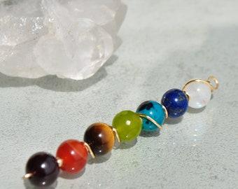 Silver chakra stone - Moonstone Rainbow Chrysocolla Lapis Lazuli, Peridot, Garnet carnelian Tiger eye