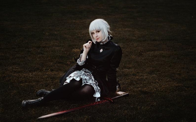 Black dress Alter Saber cosplay costume Fate