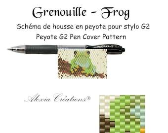 Peyote Pen Cover Pattern - Frog