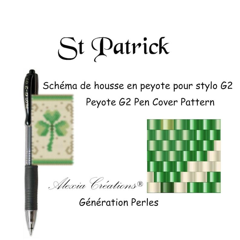 Peyote Cover Pen Pattern Saint Patricks Day