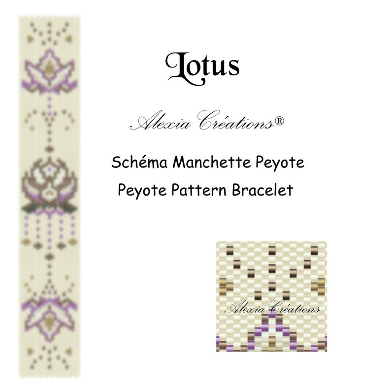 Peyote pattern bracelet  Lotus image 0