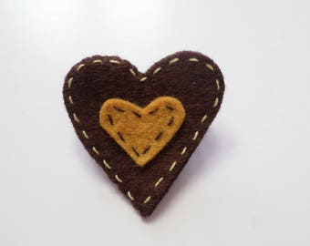 """Cyrius"" Collection heart felt brooch"
