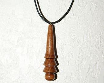 Pendant is turned in Bubinga wood