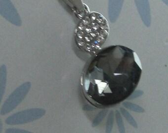 Black Rhinestone Charm pendant