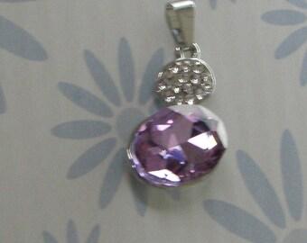 Purple Rhinestone Charm pendant