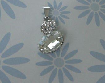 Clear Rhinestone Charm pendant