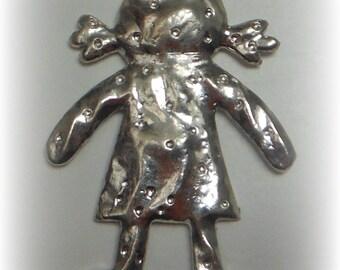 Silver girl pendant