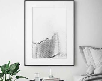 Wall Art, Printable Art, Grey Art, Grey Print, Modern Art, Modern Print, Home Decor, White Art, Abstract Art, Grey Watercolor Art