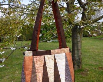 sac en tissus patchwork à porter en bandoulière