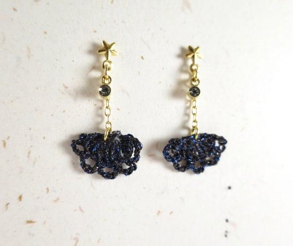 Swarovski crystal crochet earrings