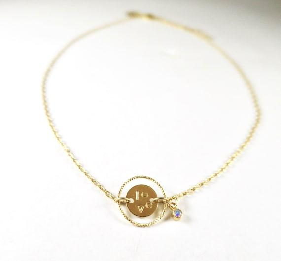 """Love"" Medal Necklace"