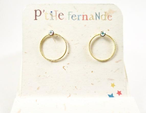 Swarovski Crystal S ring earrings