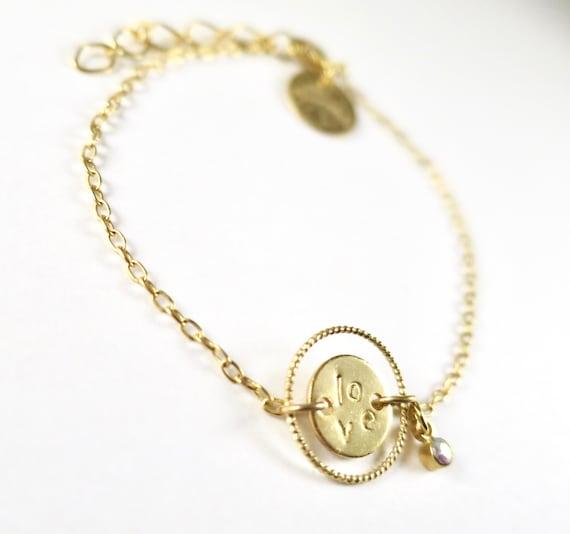 """""""Love"""" medal bracelet"""
