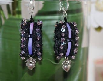 Earrings lace garter