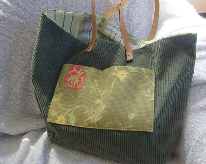 "Tote bag ""Sausalito"" in velvet green"