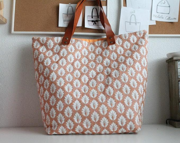 SAUSALITO bag in orange jacquard