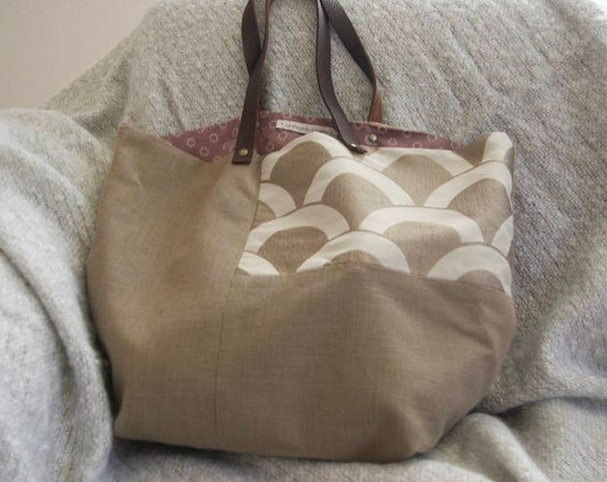 "Tote bag ""Sausalito"" in linen"