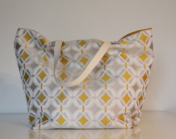 Yellow geometric SAUSALITO bag