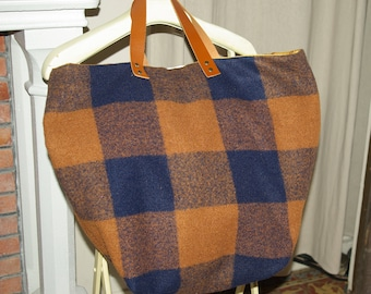 Large SAUSALITO bag in wool and taffeta