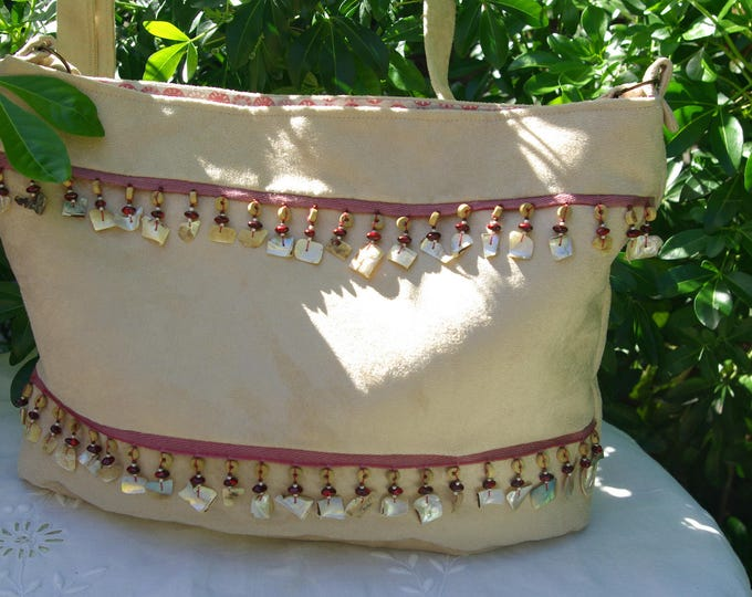 "Bag ""Collioure"" in beige suede"