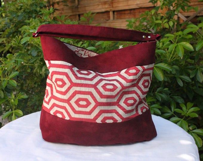 The COLLIOURE bag burgundy and ecru
