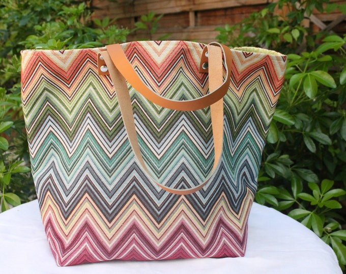 "Tote bag ""Sausalito"" geometric shapes"
