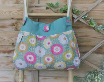 "Tote bag ""Sausalito"" flower patterns"
