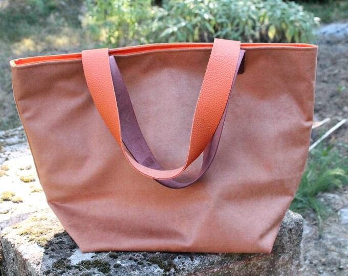 SAUSALITO bag with two-coloured handles