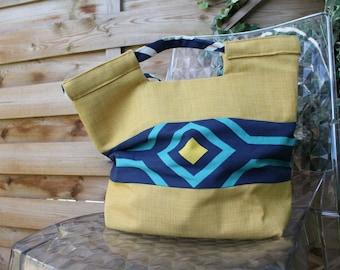 The ALICE handbag in yellow linen