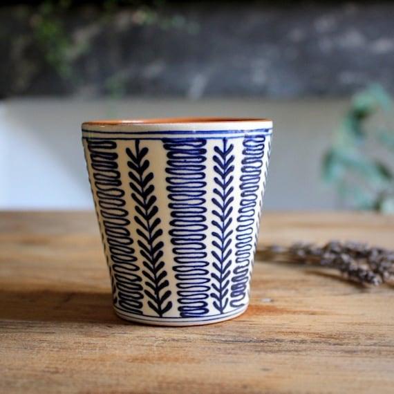 Set de 2 tasses en céramique – Epi bleu