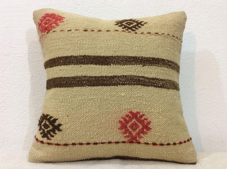 Embroidery pillow cover,Kilim pillow,Handmade cushion cover,Ethnic Cushion,Tribal pillow case,Pillow Gift,pillow for her,kilim pillow cover